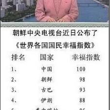 북한이 조사한 행복한 나라 순위
