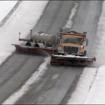 Drifting-snow-plow