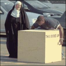 Box-lifting-prank