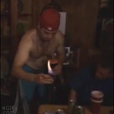 Flaming shot fail