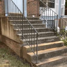 계단 청소