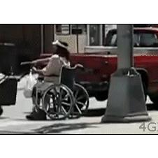 Lawnmower-wheelchair