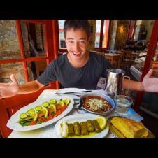 Cretan Food!! ULTIMATE GREEK FOOD Tour - Mezedes + SPIT MEAT (Kontosouvli) Street Food in Athens!