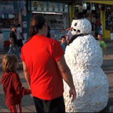 Snowman-prank