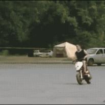 오토바이 앞바퀴 가출