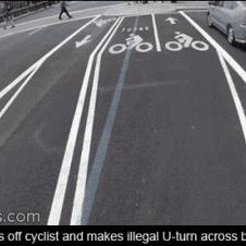 Taxi-cyclist-police