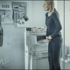 Office-secretary-hopping