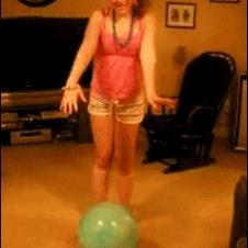 Girl-jumps-on-bouncy-ball