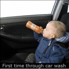 Car-wash-scares-kid