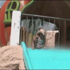 Pool-slide-poop