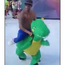 Dinosaur dancing