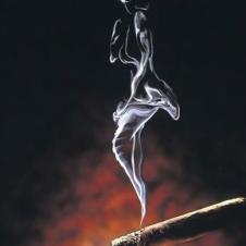 담배 연기가....