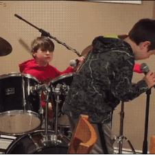 Boy-trips-drummer-rimshot