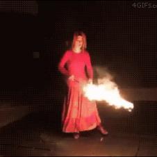 불꽃으로 새 만들기