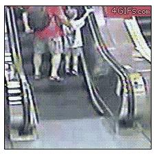 Mobility-scooter-escalator