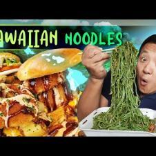 MUST TRY HAWAIIAN RAMEN NOODLES & Volcano Burger in Oahu
