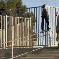 Skateboarder-railing-lamppost