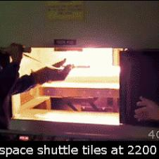 Space shuttle thermal tiles