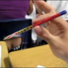 Pencil-crack-bullseye
