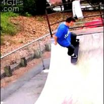 Skateboard flip trick