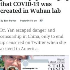 코로나 중국산이라던 연구원 트위터