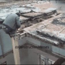 공사중 지붕 붕괴