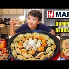 Trying EVERY DUMPLING at H-MART! KOREAN SUPERMARKET Noodles & Dumplings Taste Test Part 1