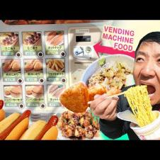 Eating ONLY VENDING MACHINE FOOD & CREEPY Vending Machines in Tokyo Japan