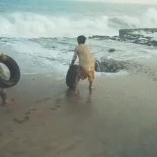 타이어를 날려보자