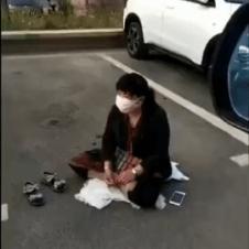 무료주차장 자리 지키는 아줌마