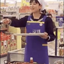 Employee-eating-food-samples