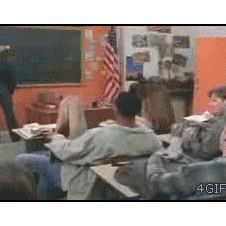 A student tries to mess with Chuck Norris.