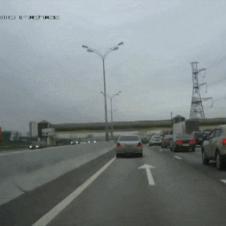 고속도로 갓길 운전