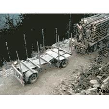 산판 목제 운반 운전기술