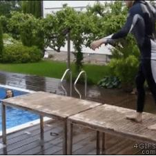 Pool-table-diving-board
