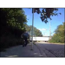 BMX-bike-sign-post-swing