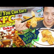 All You Can Eat KFC CHICKEN BUFFET in Tokyo Japan 5 HOUR WAIT! WORST Buffet Ever?!