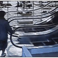 Old-woman-escalator-fail