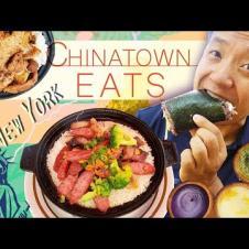 EATING New York Chinatown! CLAYPOT RICE & BEST Fried Dumplings!