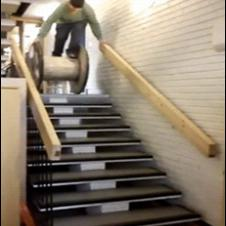Wooden-spool-stairs-fail