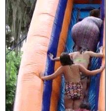 Mom-stairs-water-slide