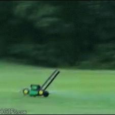 Flying-lawn-mower