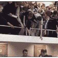 Eager-fans-collapse-railing