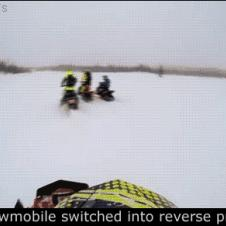 Snowmobile-switched-into-reverse-prank