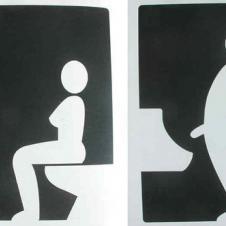 바르셀로나 (스페인)의 어느 화장실 표지판