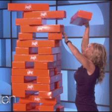 Ellen-Jenga-push-trolling