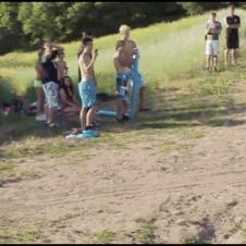 Girl-dirt-bike-ramp-lake