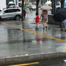 너는 비를 맞아도 돼