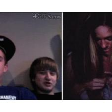 A girl on chatroulette turns into a demon.