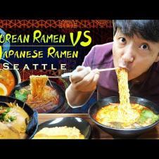 KOREAN vs. JAPANESE RAMEN | Trying EVERY RAMEN NOODLE SHOP in Seattle Part 1